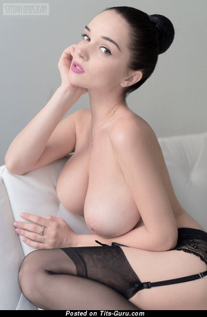 Magnificent Brunette with Magnificent Nude Natural Sizable Breasts (Hd 18+ Image)