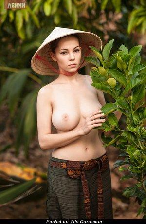 Ksyusha Egorova - Charming Russian Babe with Charming Naked Natural C Size Breasts (Hd 18+ Wallpaper)