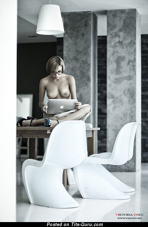Image. Awesome lady with medium natural boobs pic