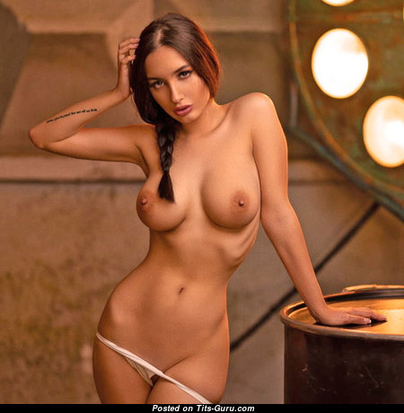 Alina Gorohova - Exquisite Topless Babe with Exquisite Open Natural Dd Size Tit (Hd Sexual Wallpaper)