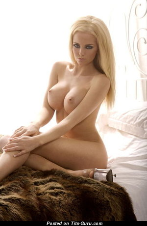 Image. Naked blonde with big fake tits picture