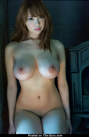 Shion Utsunomiya - topless asian brunette with medium tittes and big nipples picture