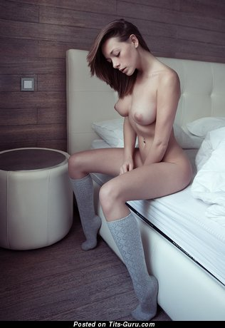 Splendid Babe with Splendid Naked Natural Boobs (Hd Sexual Pic)