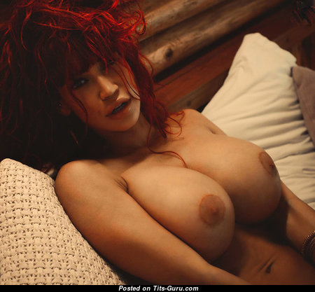 The Nicest Topless Brunette & Red Hair Babe with The Nicest Open Fake Melons (Sex Picture)