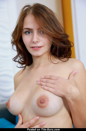 Splendid Red Hair Babe with Splendid Defenseless Real Firm Busts & Big Nipples (4k Sexual Photo)