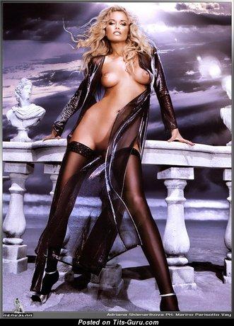 Adriana Karembeu - Alluring Topless Slovak Blonde (Xxx Wallpaper)