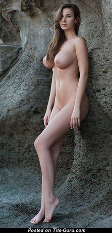 Connie Carter - Grand Czech Brunette Babe, Pornstar & Girlfriend with Grand Bald Substantial Knockers & Piercing (Xxx Image)