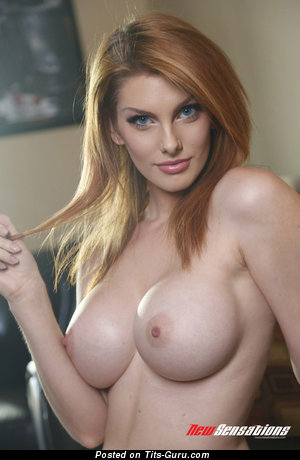 Image. Lilith Lust - sexy naked red hair with medium tots pic