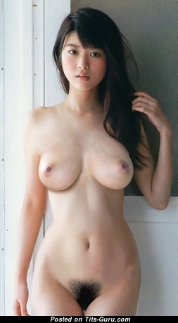 Marvelous Topless Asian Brunette Babe with Marvelous Bald Real Knockers (Hd Xxx Pic)