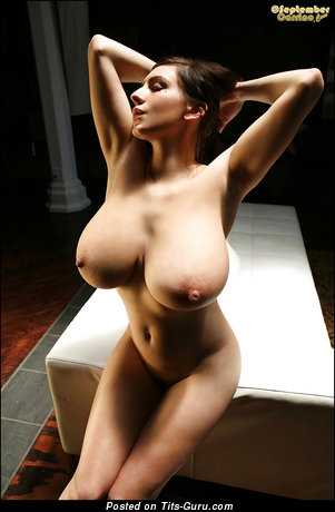 Nude brunette with big nipples picture