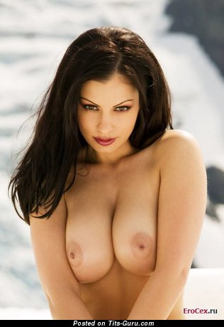 Image. Nude nice woman with medium natural breast photo