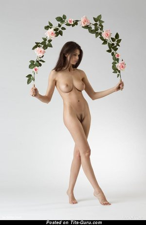 Image. Jasmine Andreas - nude brunette with medium natural boobies photo