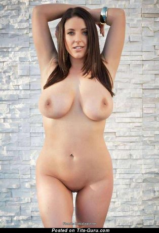 Angela White - sexy naked brunette with natural boobs photo