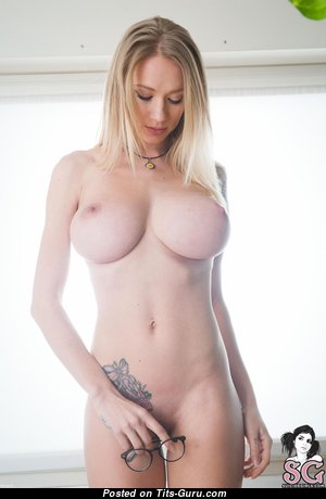 Natasha Legeyda - Exquisite Russian Blonde Babe with Exquisite Defenseless Natural Firm Breasts, Tattoo & Piercing (Hd Sexual Photo)