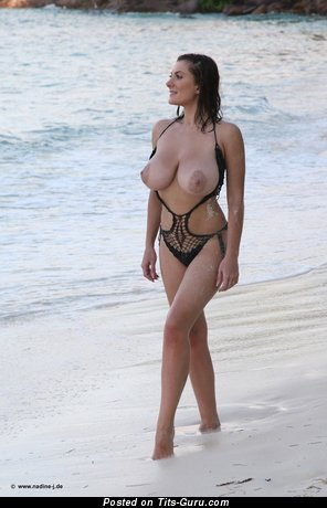 Valory Irene - sexy nude brunette with big natural breast image