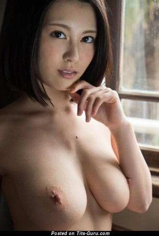 Image. Sexy nude asian brunette with big boob pic
