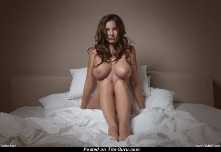 Image. Josephine - naked brunette with huge natural tits pic