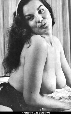 Image. Naked wonderful woman with big natural boob vintage