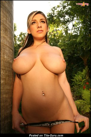 Image. September Carrino - amazing lady with big natural breast and piercing picture