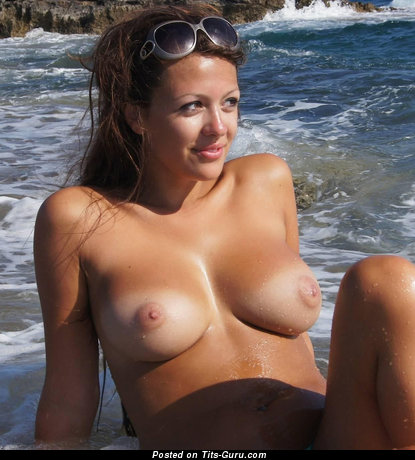 Fine Topless Brunette with Fine Defenseless Real Regular Chest (Hd Xxx Photo)
