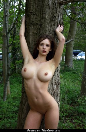 Image. Amateur naked beautiful female with natural breast image
