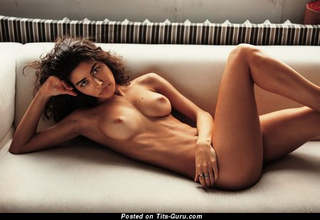 Image. Sexy nude hot girl with medium natural boobies photo