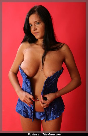 Olesya - Beautiful Brunette with Nice Defenseless Natural Mega Knockers (Hd Xxx Picture)