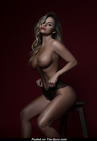 Marvelous Blonde Babe with Marvelous Nude Fake Jugs (Hd Porn Wallpaper)