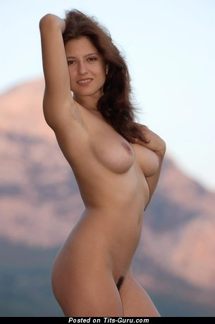 Image. Naked beautiful woman with medium natural boobies image