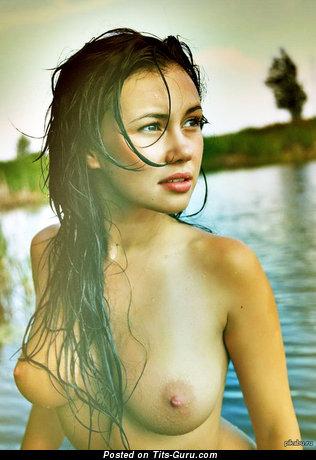 Image. Hot lady with medium natural tots image