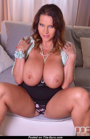 Laura Orsolya - Appealing Hungarian Brunette Pornstar with Appealing Bald Real Tits is Undressing (Hd Porn Pix)
