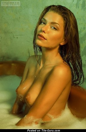 Sexy Wet Red Hair with Sexy Naked Natural Tight Titty in the Shower (Sex Photo)