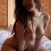 Anielly Campos - topless latina brunette with medium natural boobs image