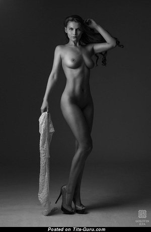 Image. Sexy naked hot female with medium boob pic