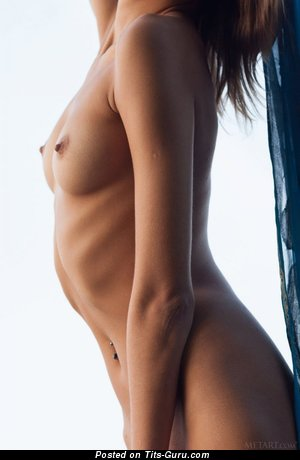 Image. Naked amazing female with medium natural boobies pic