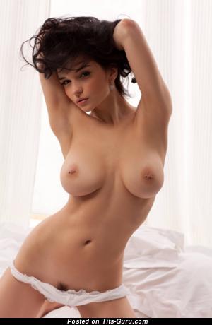 Dazzling Brunette with Dazzling Defenseless Natural Titties (Hd Xxx Photoshoot)