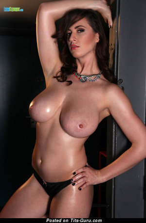 Lana Kendrick - topless brunette with medium breast photo