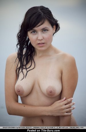 Bailey Devonish - The Best Topless Brunette Babe with The Best Bare Real Mid Size Hooters (Sex Photo)