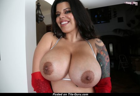 Lana Blanc - Appealing Nude Latina Brunette Babe with Tattoo (Hd Xxx Photo)