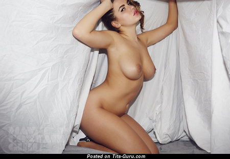 Image. Nude blonde with big natural boobs photo