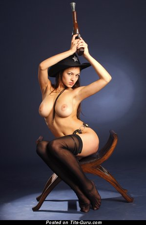 Image. Meris - naked brunette with big natural tots pic