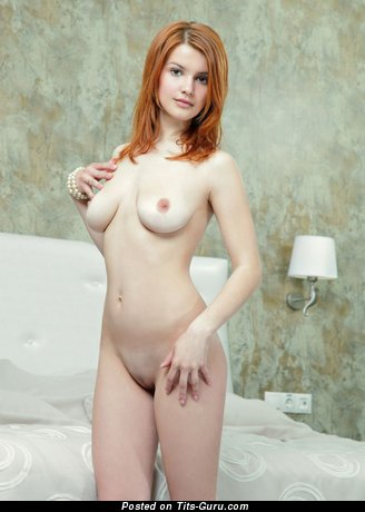 Image. Nude amazing female with medium natural boob photo