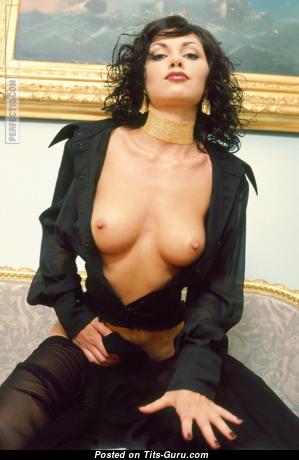 Nastia Dezevkova - Lovely Topless Honey with Lovely Bald Natural Tight Knockers (Porn Photoshoot)