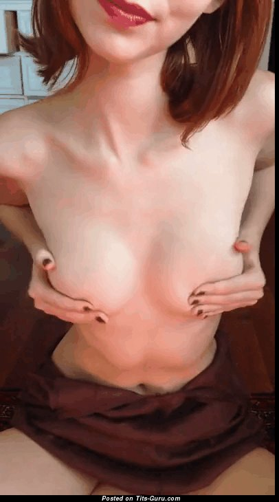 Image. Amateur nude brunette with natural tits gif