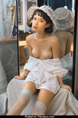 Gorgeous Babe with Gorgeous Exposed Real Petite Titty & Inverted Nipples (Hd Porn Photoshoot)