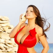 Мия Зарринг - amazing girl with huge boobs photo