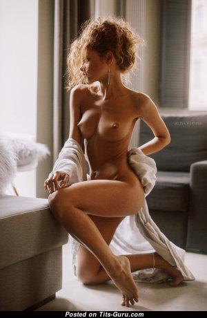 Julia Yaroshenko - Superb Red Hair with Superb Open Medium Tittes (Hd Porn Photo)