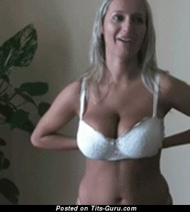 Naked amazing lady with big natural boobs gif
