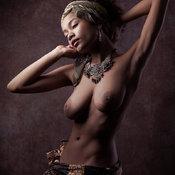 Zalia Fender - ebony with big natural tits image