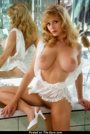 Image. Sexy topless blonde with big tits picture